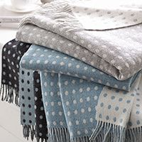 Reversible Lambs Wool Throws