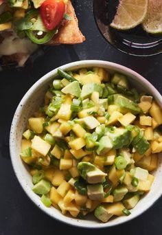 Mango Avocado Salsa from www.whatsgabycooking.com (@whatsgabycookin)
