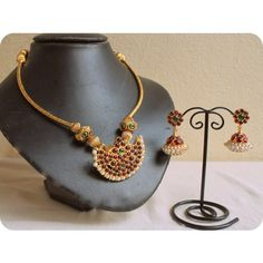GORGEOUS UNIQUE DESIGN TEMPLE NECKLACE SET - Online Shopping for Necklaces by Dreamjwell