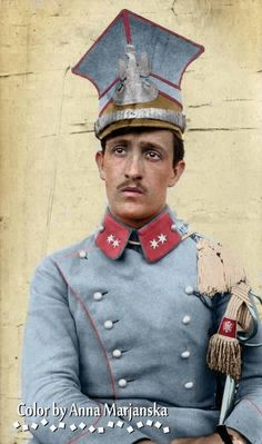 Polish lancer on the Austro-Hungarian service, WWI Ww1 Soldiers, Wwi, World War One, First World, Army Uniform, Military Uniforms, London Bombings, Austrian Empire, Man Of War