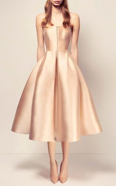 The Maeve Silk Strapless Midi Dress by ALEX PERRY for Preorder on Moda Operandi
