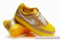 nike air force 1 unisex yellow white shoes p 3700