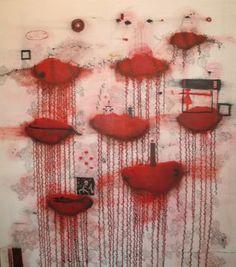 John Pule, 'Kulukakina (after experiencing something miraculous, withdraw)', 2004 Aboriginal Art, Miraculous, Art History, Walkabout, Red, Painting, Inspiration, Modern, Maori