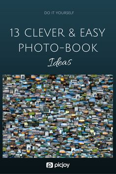 These photo-book ideas are great. I can't wait to try some of them!