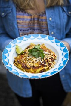 Thai Breakfast Omelette...Light, fresh & healthy breakfast inspired by Thai travels. | DonalSkehan.com