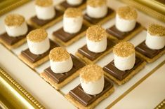 Holiday s'mores dipped in edible gold sprinkles - 24 Great Ideas for The Best New Year Eve Party