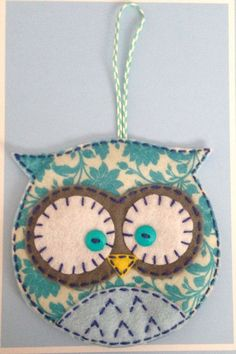 Felt Owl Ornament:                                                                                                                                                                                 More