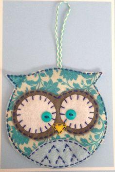 Felt Owl Ornament: