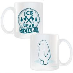 Team Ice Bear! Join the Ice Bear Club. This We Bare Bears mug features the Ice Bear Club, and will make drinking your favorite beverage more fun than ever!