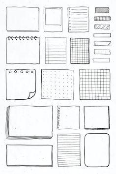 Bullet Journal Boxes, Bullet Journal Banner, Bullet Journal Lettering Ideas, Bullet Journal Notebook, Bullet Journal School, Bullet Journal Ideas Pages, Bullet Journal Inspiration, Book Journal, Bullet Journal Vectors