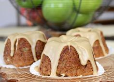 Gluten-Free Mini Caramel Apple Cakes