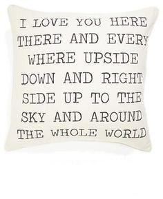 "Levtex ""I Love You"" Pillow contemporary pillows"