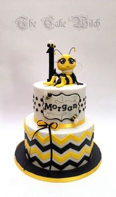 Bee Themed Birthday Cake