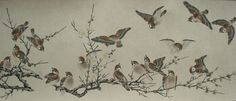 BIAN JINGZHAO (15TH CENTURY, ATTRIBUTED TO) Sparrows and red plums (деталь5)