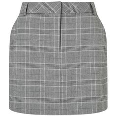 Miss Selfridge Lurex check mini skirt ($38) ❤ liked on Polyvore featuring skirts, mini skirts, checked skirt, checkered skirt, miss selfridge skirts and miss selfridge