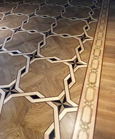 Example Picture of Border and Custom Parquet, Photos of custom Wood floors, medallions, inlays, borders and parquet. Wood Floor Design, Wood Floor Pattern, Floor Patterns, Tile Design, Refinishing Hardwood Floors, Wooden Flooring, Ceramic Mosaic Tile, Wood Carving Designs, Tiles Texture