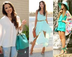 Aquamarine Color Trend | Fashion Trends 2015, fashion shows, weeks and LookBooks from FLooks.net