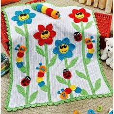 Uncinetto & Crochet ~ No pattern ~ Inspiration. A beautiful must do quilt Baby Afghans, Baby Afghan Crochet, Manta Crochet, Crochet Blanket Patterns, Crochet Blankets, Knitting Patterns, Crochet Crafts, Crochet Projects, Cute Blankets