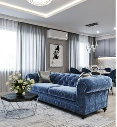 - Beautiful Home interior Mansions Stairs - - Home interior Design Living Room Open Concept - Dream Home interior Cozy Living Room Grey, Living Room Interior, Home Living Room, Home Interior Design, Living Room Designs, Living Room Decor, Kitchen Living, Navy Blue And Grey Living Room, Studio Interior