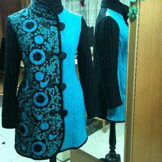 #Abrigo calipso con negro de polar y tul con aplicaciones #otoño #invierno #fall #fashion #moda #modachile #magallanes #puq #puntaarenas #patagonia #instapuq #instamoda #instachile #coat #chile #winter