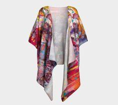 Draped kimono, robe, wrap, cover up, Kimono Sleeve, Shrug, Jacket, Cardigan…