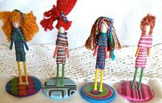 Button Babes Art doll toothpick figure. $6.50, via Etsy.