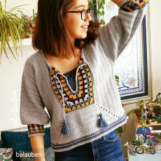 Easy crochet top pullover free pattern - New Ideas Black Crochet Dress, Crochet Jacket, Crochet Cardigan, Easy Crochet, Knit Crochet, Crochet Tops, Crochet Videos, Crochet Fashion, Crochet Clothes