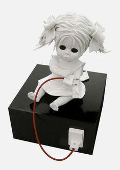 I found this Maria Rubinke's Ghastly Porcelain Doll is ARTISTIC, seriously!!