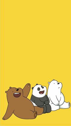 ice bear we bare bears blue iphone wallpaper