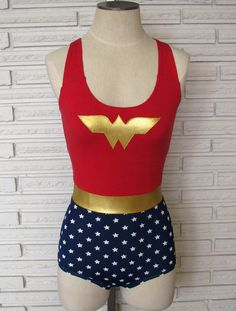 Awesome Wonder Woman leotard by HarmonyThreads on Etsy!  I wonder if the designer does custom sizing?
