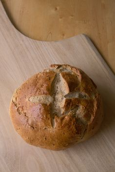 How to make your own sourdough starter--recipe is for rye flour, but can also use whole wheat