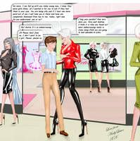 The professional touch by Andylatex on DeviantArt Sports Presenters, Tg Captions, Sissy Boy, Latex Dress, More Words, Word Out, Looking For Love, Walking By, Kinky
