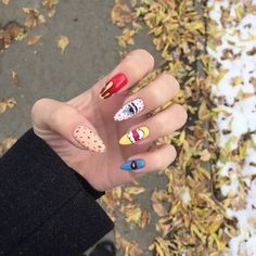 2019 is Also Very Fashionable Nail Polish Designs and Shapes Aycrlic Nails, Nail Manicure, Hair And Nails, Nails Moon, Perfect Nails, Gorgeous Nails, Pretty Nails, Nail Polish Designs, Acrylic Nail Designs