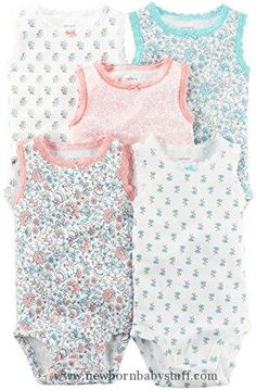 Baby Girl Clothes Carter's Baby Girls Multi-Pk Bodysuits 126g603, Assorted, 18 Months Baby
