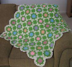 Pastel Multi Colored Floral Afghan   FaveCrafts.com