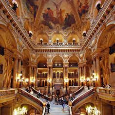 Opera Garnier Grand Staircase....one of the many Opera Houses I singing at :)