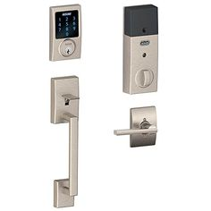Schlage Connect Century Touchscreen Deadbolt with Built-In Alarm and Handleset…