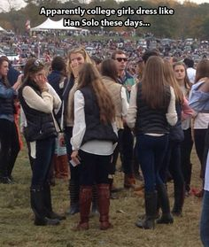 For a minute there I thought is was a convention and those were cosplays or something...