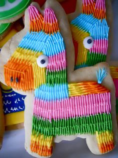 pinata cookies- great for mexican theme party