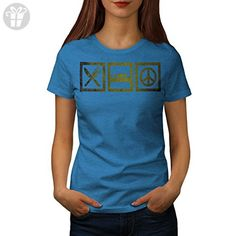 Eat Sleep Make Peace Symbol Fun Women NEW S T-shirt | Wellcoda (*Amazon Partner-Link)