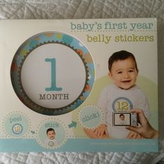 Baby's First Year belly stickers New, unopened box.  Capture baby's growth with milestone stickers. Accessories