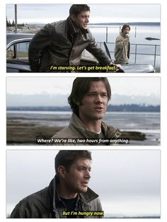 Reminds me a lot of something me and @Brianna Offutt would say to each other, her being Dean. XD