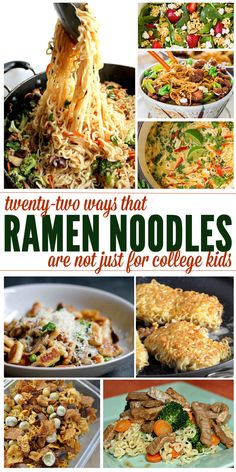 22 Recipes That Prove Ramen Noodles Are The Best - Ooooo yum! - Find out all the best Ramen Noodles Recipes and improve your family meal nights with these impressi - Best Ramen Noodles, Recipes With Ramen Noodles, Raman Noodles, Easy Noodle Recipes, Chinese Noodle Recipes, Ramen Noodle Salad, Garlic Noodles, Noodle Bowls, Rice Noodles