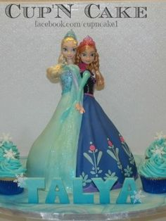 Frozen cake 2 in 1 by cupncake1