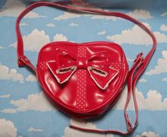 Lovely Heart Shoulder Bag in Red from Angelic Pretty - Lolita Desu