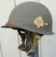 WWII M-1C Airborne Helmet 506th Front Seam Westinghouse Paratrooper Liner Net