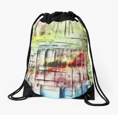 Layers by DesignByAngela How cool looks this drawstring bag!