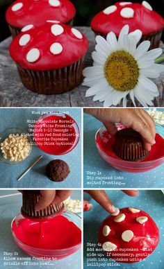 The Perfect DIY Fairy Garden Mushroom Cupcakes - The Perfect DIY