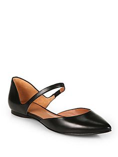 Sigerson Morrison Holli Leather Mary Jane Flats