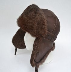 Rabbit Fur Hat, Russian Hat, Fur Hats, Flap Hat, Aviator Hat, Trapper Hats, Outfits With Hats, Kids Hats, Fur Pom Pom